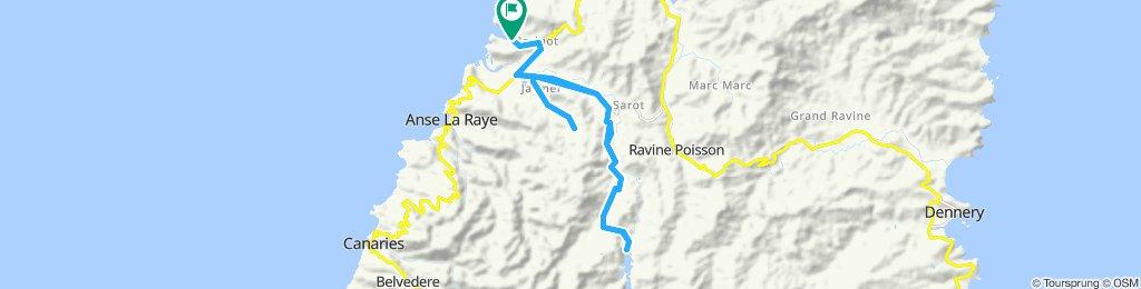 St Lucia Marigot Marina to Roseau Reservoir