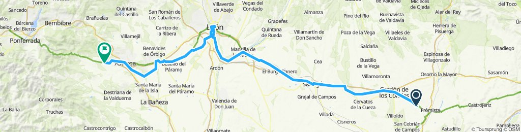 Deel 12 Carrion de los Condes - Astorga 182,7km