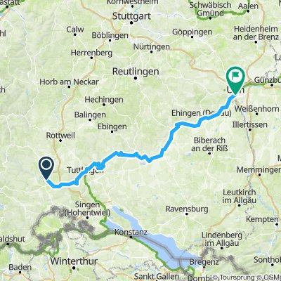 Donaueschingen bis Ulm