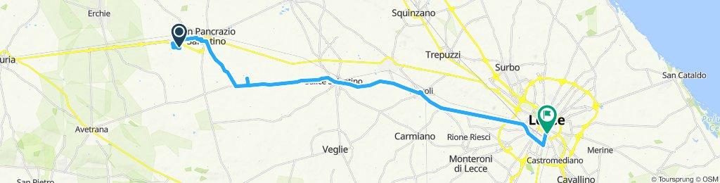 Day 3 17 May Agriturismo Torrevecchia - Lecce Uraban Oasis Hostel short 40km