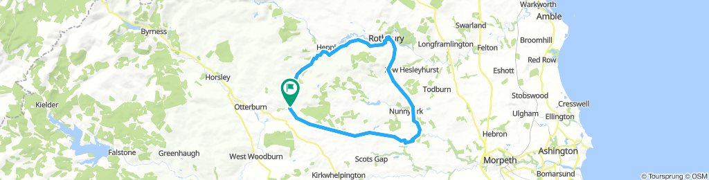 elsdon 52k loop to rothbury