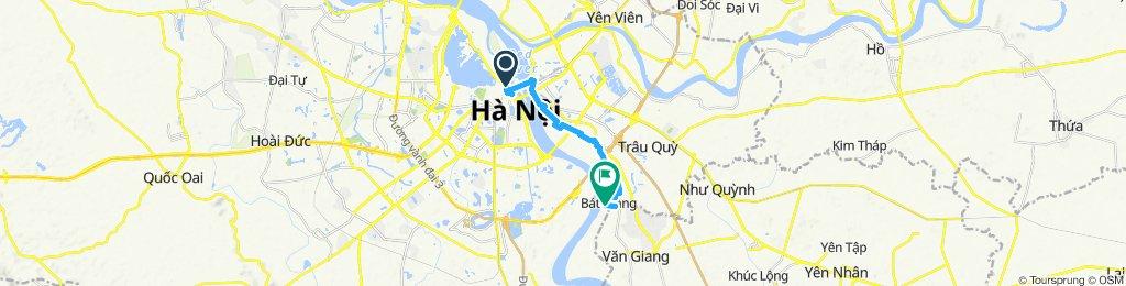 Cycling to Bat Trang Village