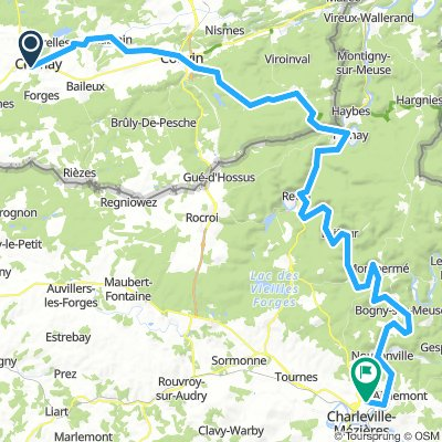 Chimay to Charleville-Mez Camping du Mont Olympe