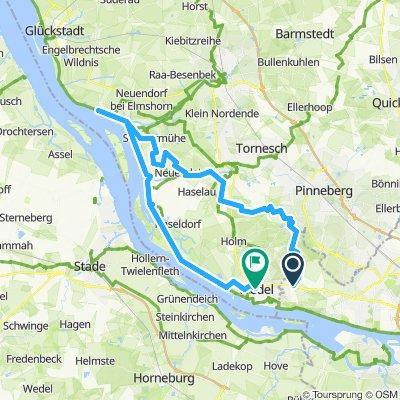 Tour de Marsch, bis Kollmar