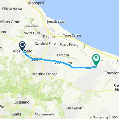 Alberobello nach Ostuni