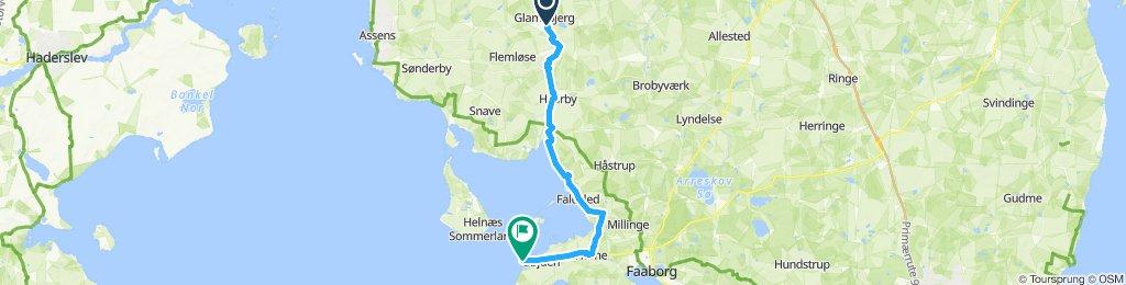 Glamsbjerg-Bøjden (30km - 1:50hr)