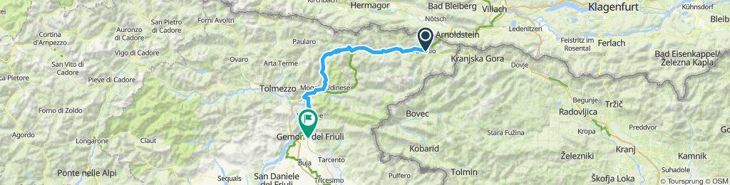 Tarvis Gemona via C. 72km 720hm