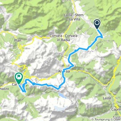8. Etappe San Ciascian - Canazei
