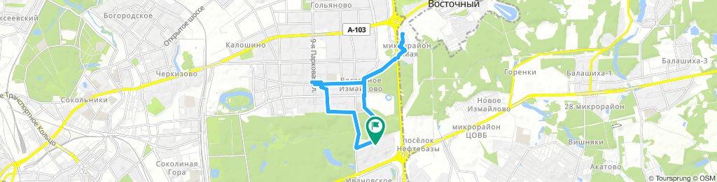 Велоездка рабочая-  до м. Первомайская и доставка в мкрн 1 мая (Балашиха)