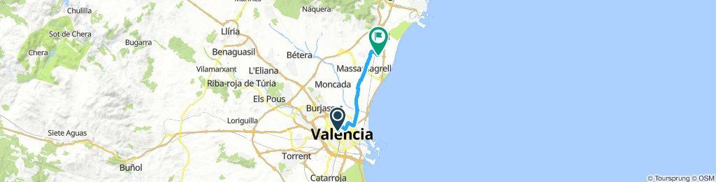ruta 32 Horta Nord: calle Balmes - Puzol