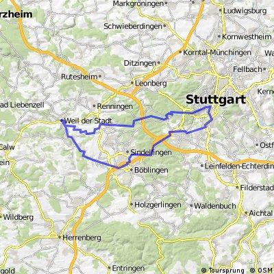 Darmsheim - Weil dS - Stuttgart und zurück