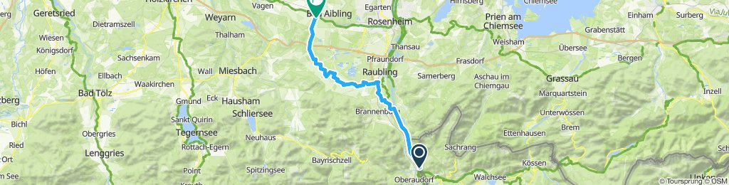 Route nach Bad Aibling