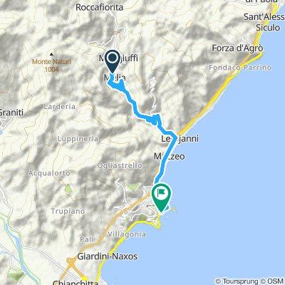Snail-like route in Taormina