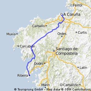Coruña-Pino do Val-Ribeira