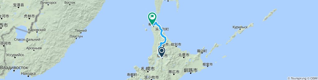 Length of Japan part 3 Asahikawa to Wakkanai