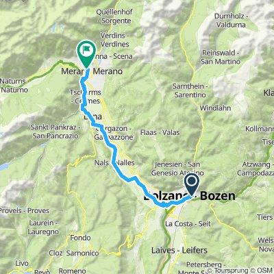 bolzano -meran  42 km fietsen