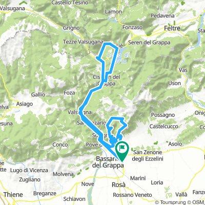 Fellette - Campo Croce - Campo Solagna - Cismon - Incino - Arsiè - Fellette