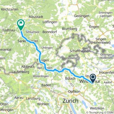 Winterthur to Menzenschwand