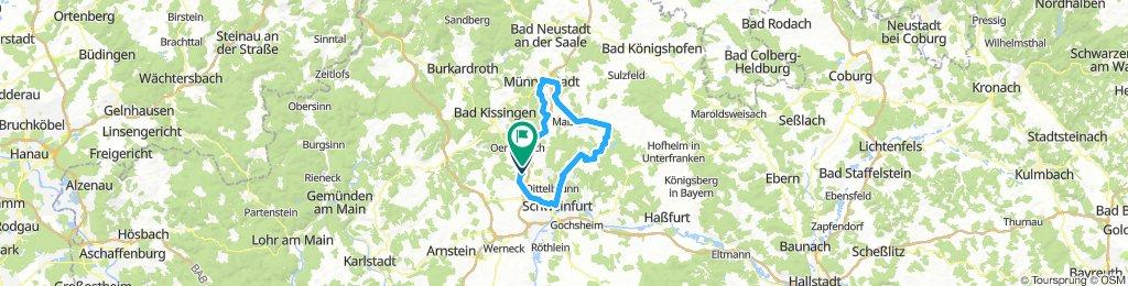 Münnerstadt - Schweinfurt - Stadtlauringen - Münnerstadt