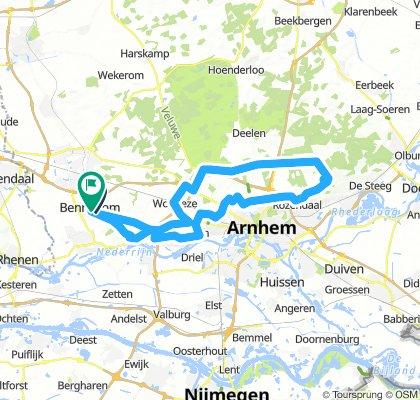 Kort Rondje Posbank via Oosterbeek