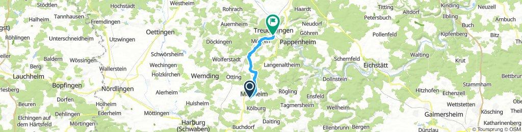 Langsame Fahrt in Treuchtlingen