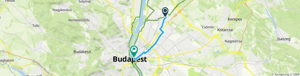 Relaxed route in Budapest V. kerület