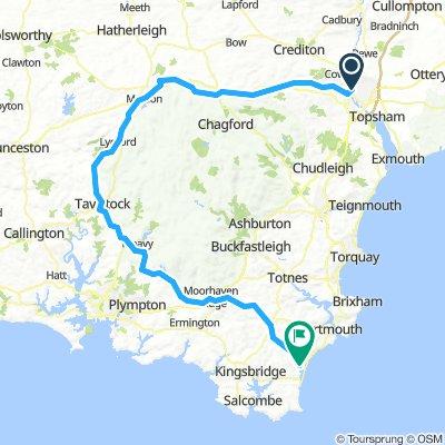 Exeter to Slapton Route