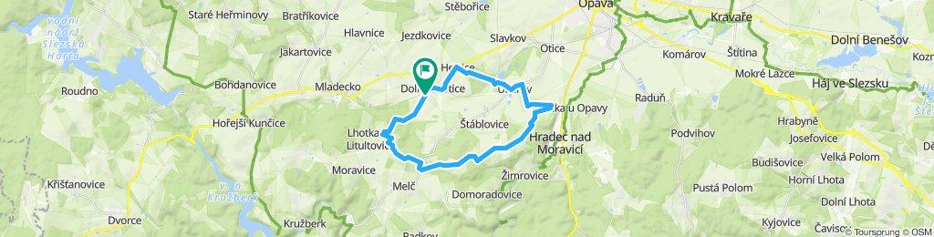 Snail-like route in Dolní Životice
