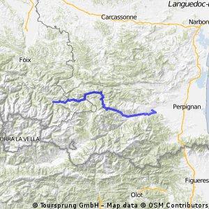 Trans-Pyrénées Etappe 7: Ax-les-Thermes - Ille-sur-Têt