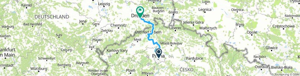Prága-Drezda az elbamenti kerékpárúton