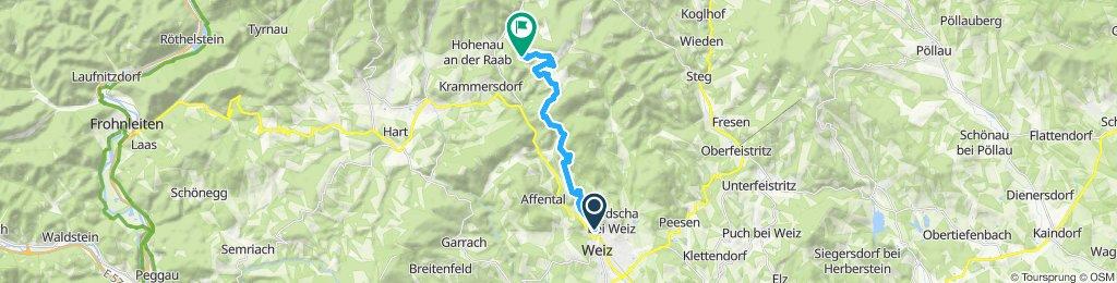 Weizer Almenland Radtour, Variante 1