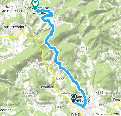 Weizer Almenland Radtour, Variante 2