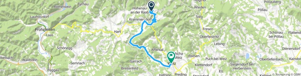 Weizer Almenland Radtour, Alternativroute