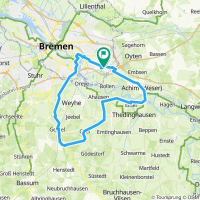 Epp.-Achim-Syke-Leeste-Bremen Sperrwerk-Epp.