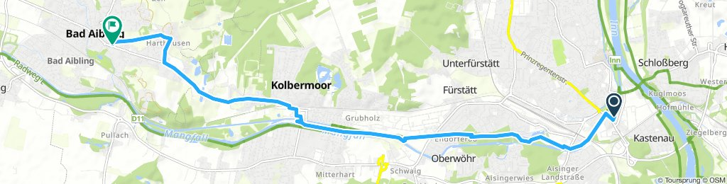 Gemütliche Route in Bad Aibling