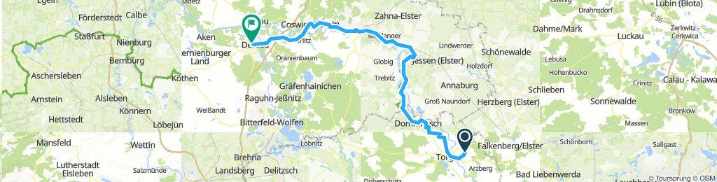 6)Torgau-Dessau 108 km