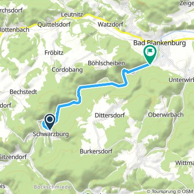 Langsame Fahrt in Bad Blankenburg