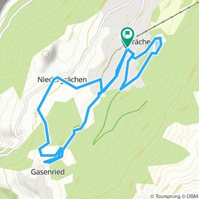 Route  MGB vSchneckentempo in Grächen