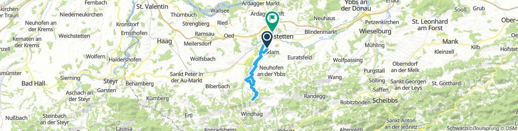 Route im Schneckentempo in Amstetten