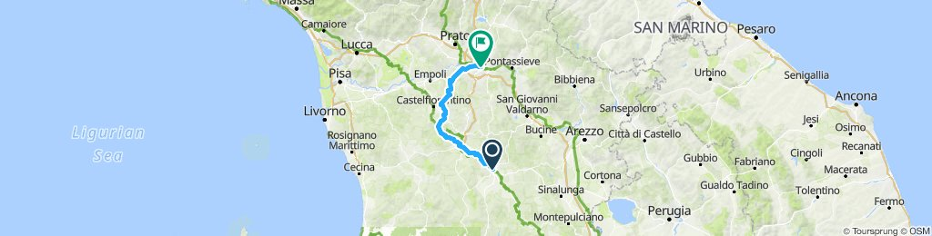 Siena, to Florence