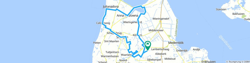Aartswoud to Callantsoog to Amstelmeer and back