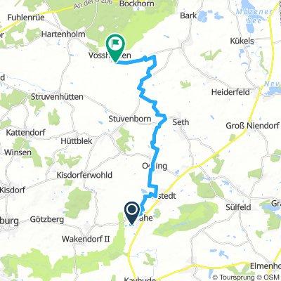 Storchencafe Vosshöhlen 1. Abschnitt (19,0km)
