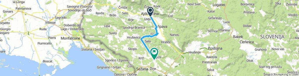 from Ajdovščina to our campsite 😊