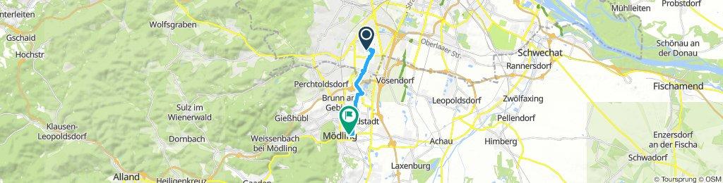 Rad Tour zum EisPeter Mödling