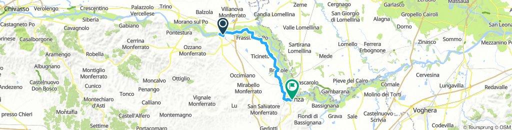 Monferrato 2a tappa - da Casale Monferrato a Valenza