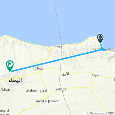 Al Westa to Karsa through Ras Hela and Latrun