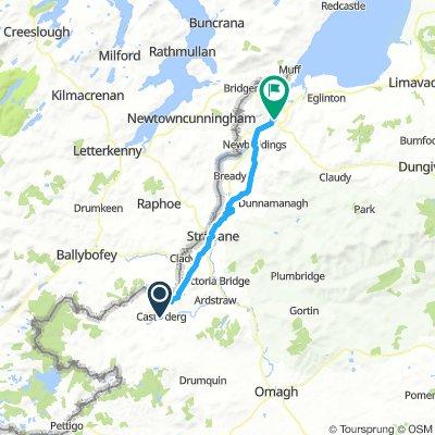 Castlederg to Derry UK
