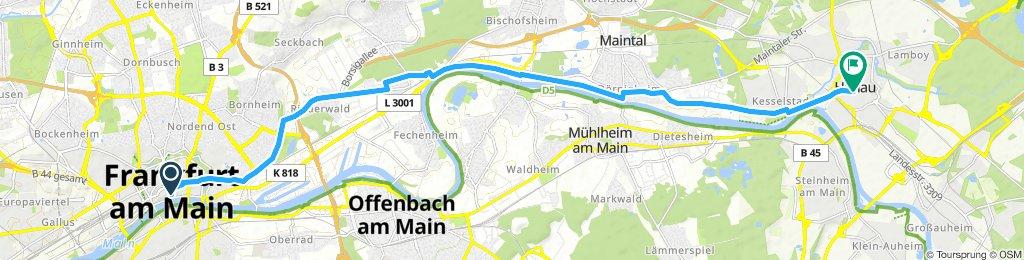 Etappe 1: Frankfurt Römer - Hanau