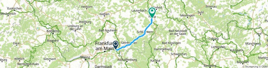 Etappe 2: Hanau nach Fulda (Barockstadt)