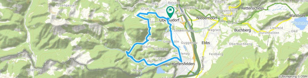 Fahrt aufs Hocheck über Kiefersfelden, Schopperalm, Rechenau, Mühlau